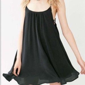 UO Kimchi Blue Dress ~ Swing Lace Up Black Small
